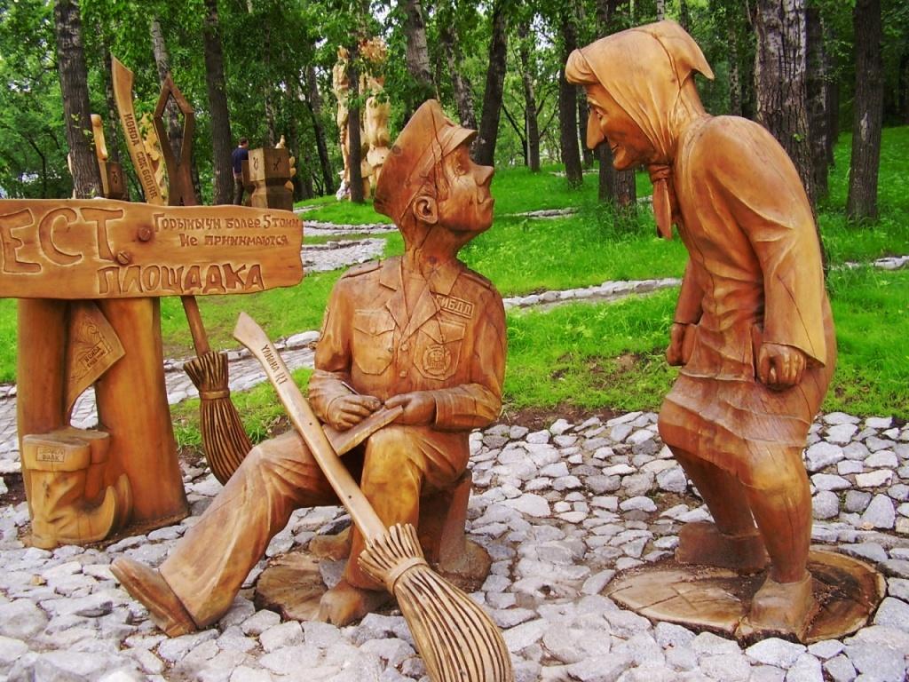 Как сделать деревянные садовые