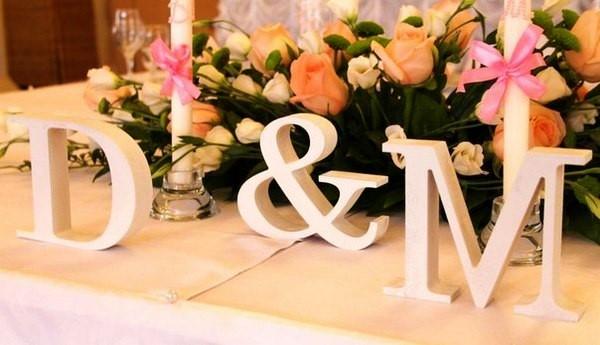 Как сделать объемные буквы из пенопласта на свадьбу своими руками